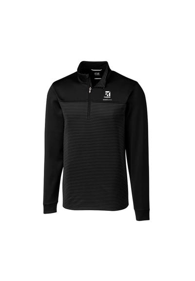 Men's Cutter & Buck Stripe Traverse Half-Zip