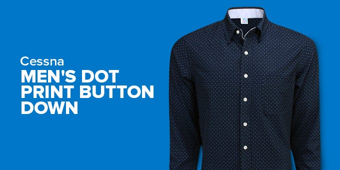 Dot Print Button Down